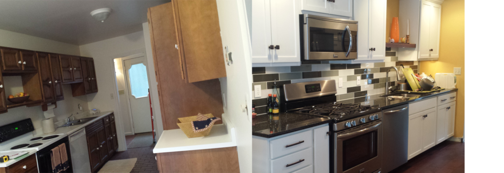 kitchen before and after renovations